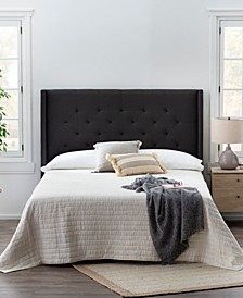 Wingback Queen Size Upholstered Headboard
