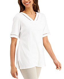 Cotton Ladder-Trimmed Tunic, Created for Macy's