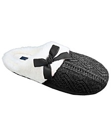 Women's Chenille Knit Clog Slippers