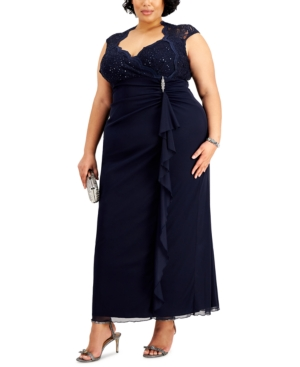 Plus Size Sequin-Detail Dress