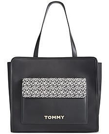 Joan Nylon/PVC Tote Created For Macy's