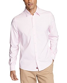 Men's No-Tuck Casual Slim Fit Stretch Dress Shirt