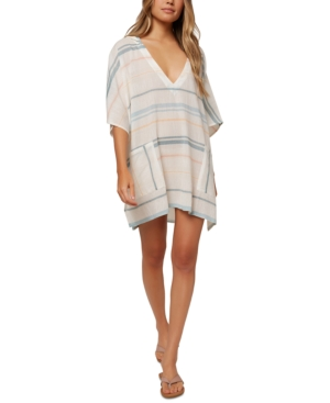 O'neill Juniors' Tava Striped Cover-up Women's Swimsuit In Multi