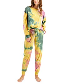 Women's Tie-Dyed Pajama Set, Created for Macy's
