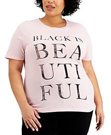 Trendy Plus Size Black Is Beautiful T-Shirt