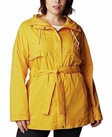 Plus Size Pardon My Trench Rain Jacket