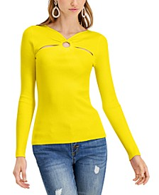 INC Petite Cutout-Detail Top, Created for Macy's