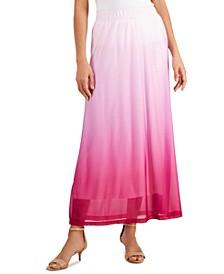 Ombré Dip-Dyed Maxi Skirt