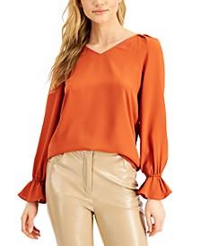 Flounce-Sleeve Top, Created for Macy's