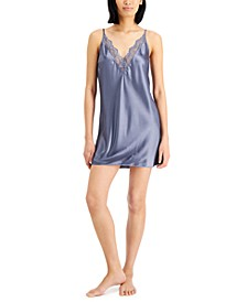 INC Lace-Trim Chemise Nightgown, Created for Macy's