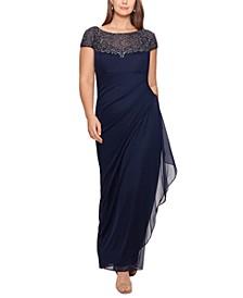 Embellished Illusion-Yoke Gown