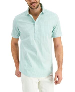 Men's Striped Popover Shirt