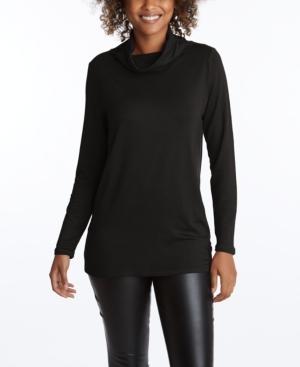 Women's Long Sleeve Cowl Top with Earloops