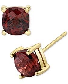 Rhodolite Garnet Cushion Stud Earrings (1-3/8 ct. t.w.) in 14k Gold
