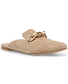 Women's Finish Chained Slip-On Mules