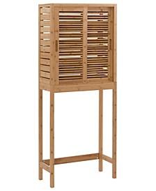 Branscome 3-Shelf 1 Door Bathroom Storage Over The Toilet Space Saver Cabinet