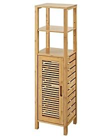 Branscome 4 Shelf 1 Door Bathroom Storage Linen Tower Cabinet