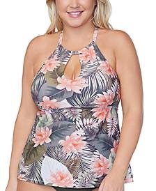 Trendy Plus Size Rosalie Underwire Tankini Top