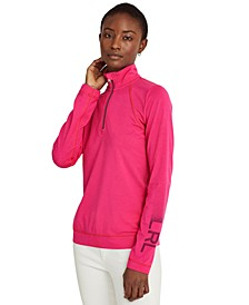Quarter-Zip Long Sleeve Top