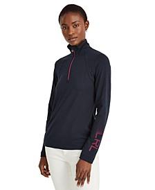 Quarter-Zip Long Sleeve Top