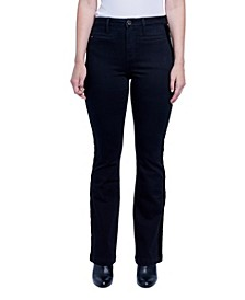 Women's Tuxedo Side Velvet Textured Bootcut Jean