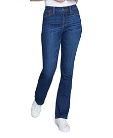 Women's Thick Stitch Slim Bootcut Jean with Contrast Stitching