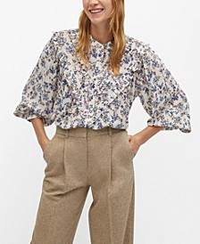 Women's Floral-Print Flowy Blouse