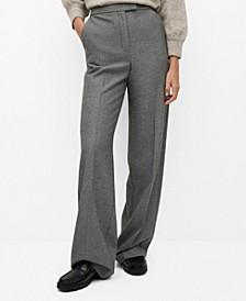 Women's Pleated Suit Pants