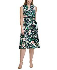 Plus Size Floral-Print Jersey Midi Dress