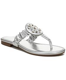 Women's Camara Ruched Medallion Sandals