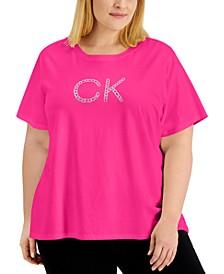 Plus Size Chain Logo T-Shirt