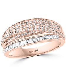EFFY® Diamond Crossover Statement Ring (5/8 ct. t.w.) in 14k Rose Gold