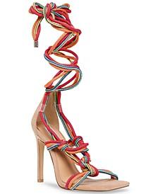 Women's Slip Tie-Up Rope Sandals