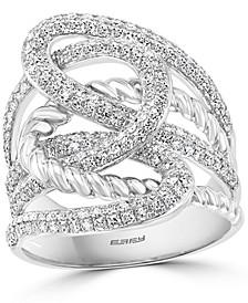 EFFY® Diamond Openwork Statement Ring (1 ct. t.w.) in 14k White Gold
