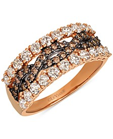 Chocolate Diamond & Nude Diamond Statement Ring (1-1/4 ct. t.w.) in 14k Rose Gold