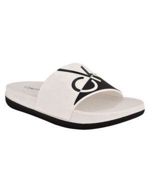 Calvin Klein Peep toes WOMEN'S BRECKEN OPEN TOE SANDALS WOMEN'S SHOES