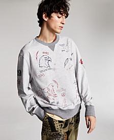 Ouigi Theodore for Men's Graphic French Terry Sweatshirt