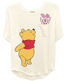 Trendy Plus Size Winnie-The-Pooh Graphic Pocket T-Shirt