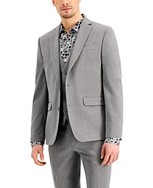 INC Men's Slim-Fit Gray Solid Suit Jacket, Created for Macy's