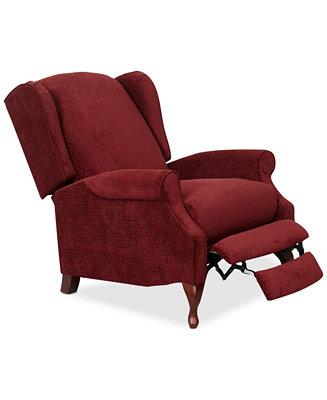 Furniture Edie Fabric Pushback Recliner Furniture Macy S