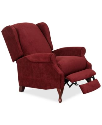 Edie Fabric Pushback Recliner. Furniture