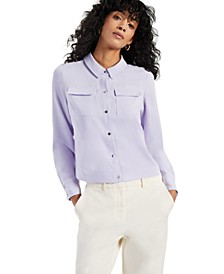Pocket Button-Front Top, Created for Macy's