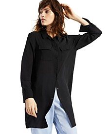 Solid Button-Down Tunic Top, Created for Macy's