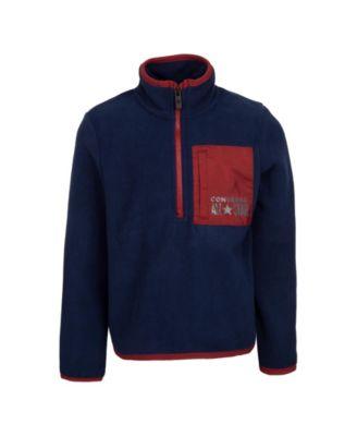 Big Boys Micro fleece Half-zip Sweatshirt