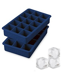 Perfect Cube Silicone Ice Cube Molds, Set of 2
