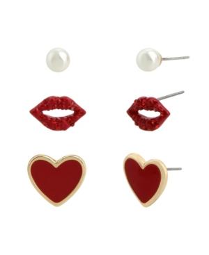 Lips Stud Earrings Set