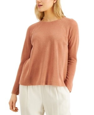 Eileen Fisher RELAXED RAGLAN-SLEEVE SWEATER