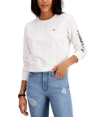 Logo-Sleeve Sweatshirt