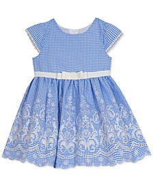 Baby Girls Embroidered Cap-Sleeve Dress