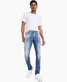Men's Skinny-Fit Destroyed Jeans, Created for Macy's